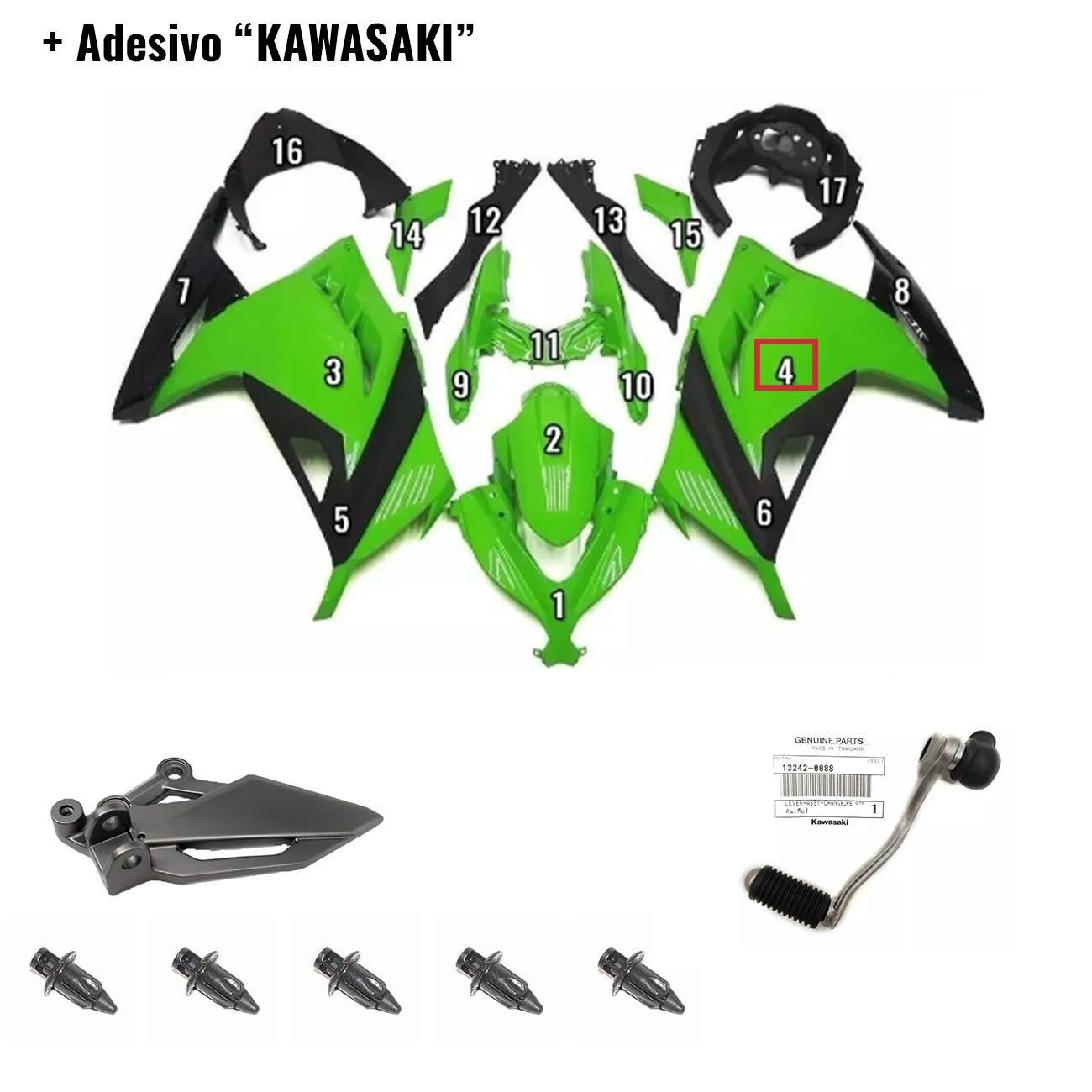 Kit de Peças Ninja 300 para Cliente