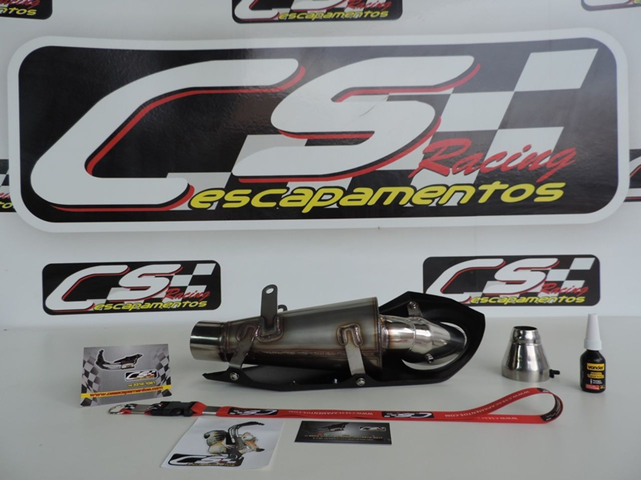 Ponteira Escapamento Esportivo | CS Racing |Ninja  ZX-6R (2010 - 2013)