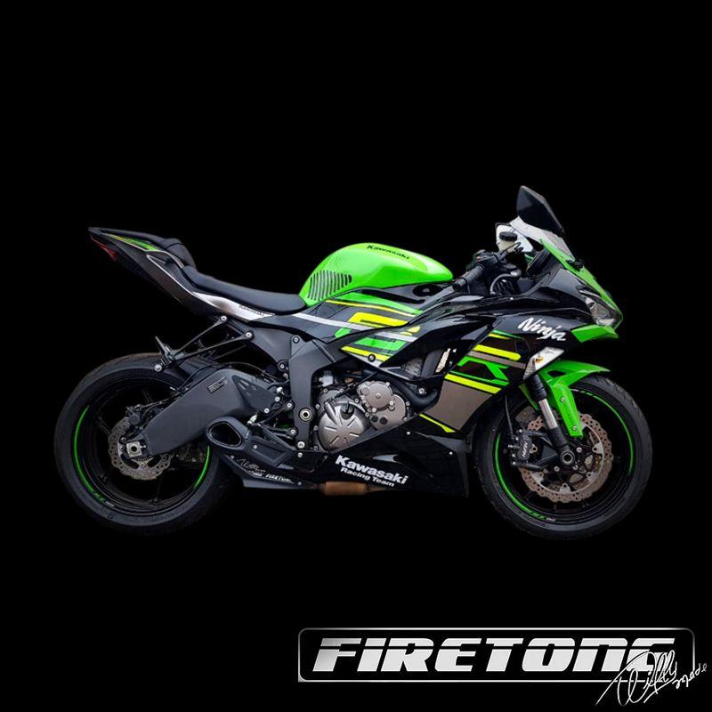 Ponteira Escapamento Esportivo | Firetong |Ninja  ZX-6R 636 (2019 - 2020)