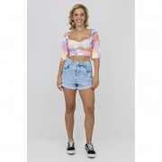 BLUSA CROPPED GRAPHIC CANDY