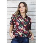 Camisa Malha Floral