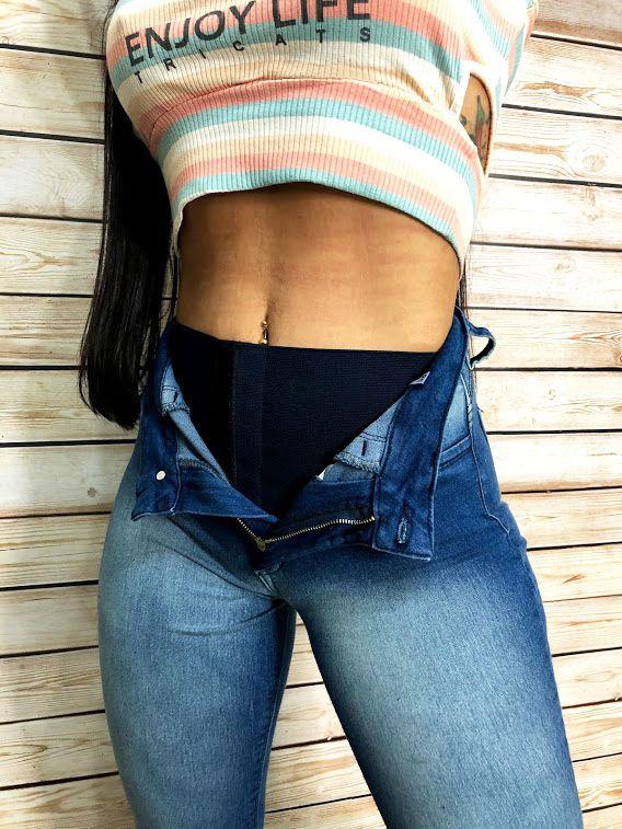 Calça Jeans Cinta
