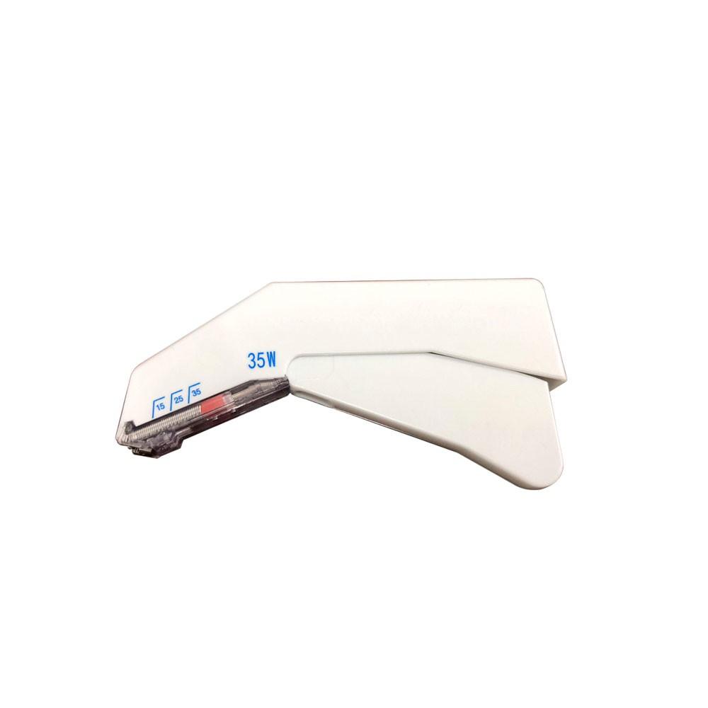 Grampeador cirúrgico de Pele com 35 grampos - Descartável - Tamanho W- Uso Veterinário