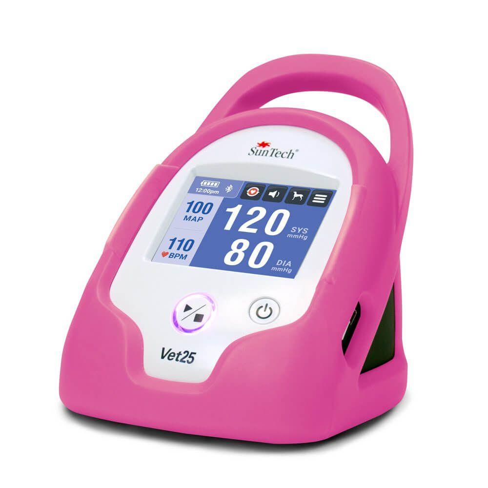 Monitor de Pressão Arterial Contínua para Animais de Estimação, marca SunTech Medical, modelo Vet25, cor rosa