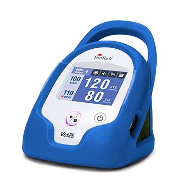 Monitor de Pressão Arterial Contínua para Animais de Estimação, marca SunTech Medical, modelo Vet25, cor azul