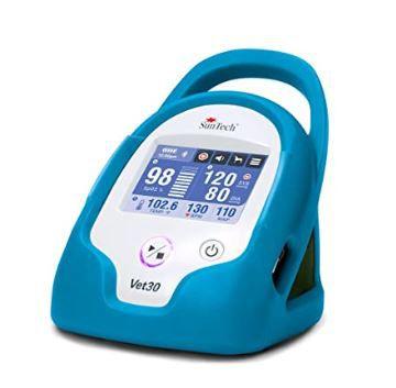 Monitor de Sinais Vitais Contínuos para Animais de Estimação, marca SunTech Medical, modelo Vet30, cor azul