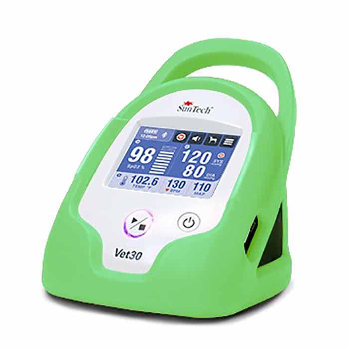 Monitor de Sinais Vitais Contínuos para Animais de Estimação, marca SunTech Medical, modelo Vet30, cor verde