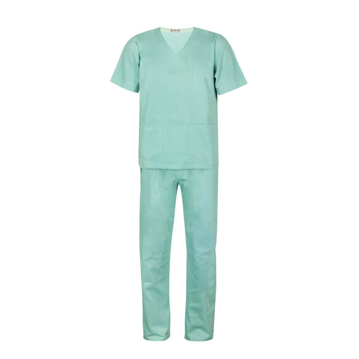 Scrub / Pijama Cirúrgico Gola V Unisex - Verde Água