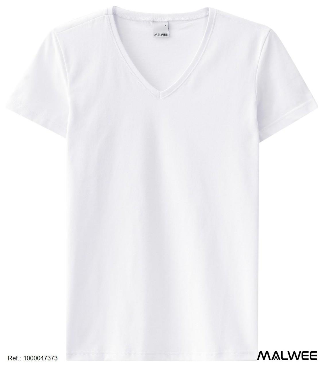 Camisa de malha Baby Look Feminina  Gola V Malwee