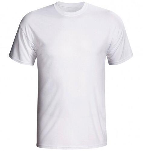 Camisa Masculina Gola Redonda  Branco Malha PV