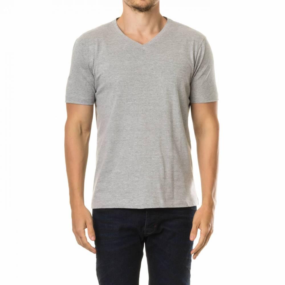 Camisa Masculina Gola V - Mescla