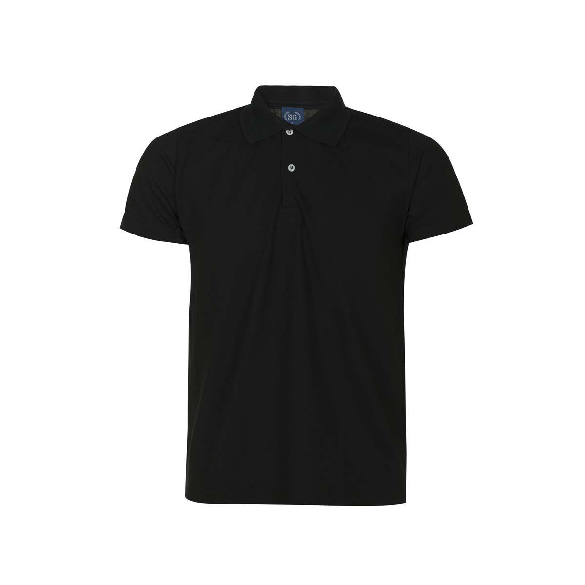 Camisa Polo Básica Piquet - Preta