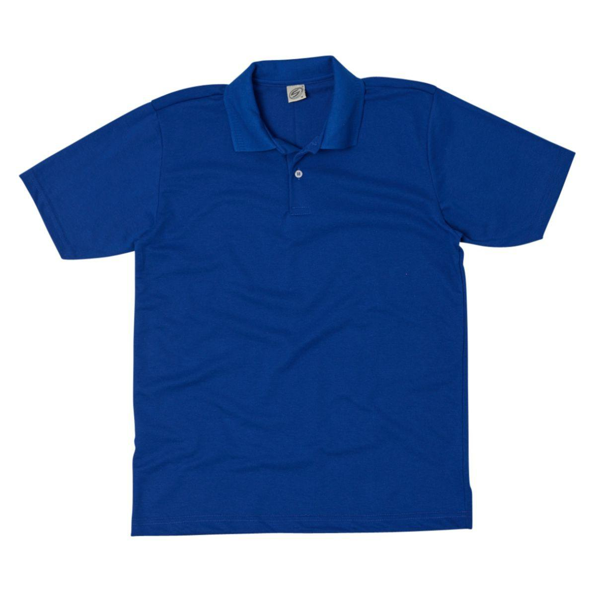 Camisa Polo Básica Piquet - Azul Royal