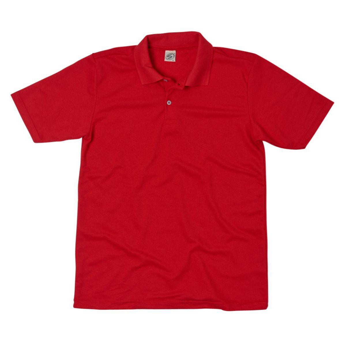 Camisa Polo Básica Piquet - Vermelha