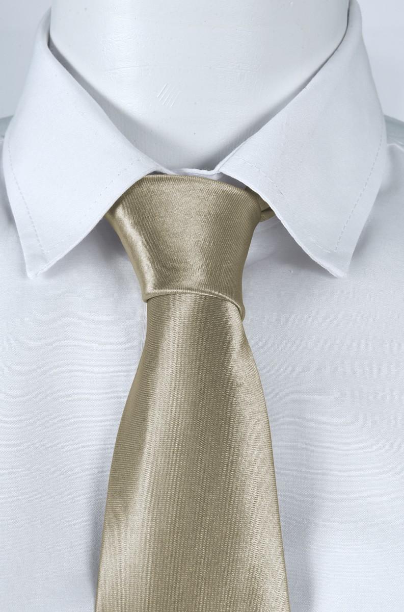 Gravata Social Masculino na cor Dourada