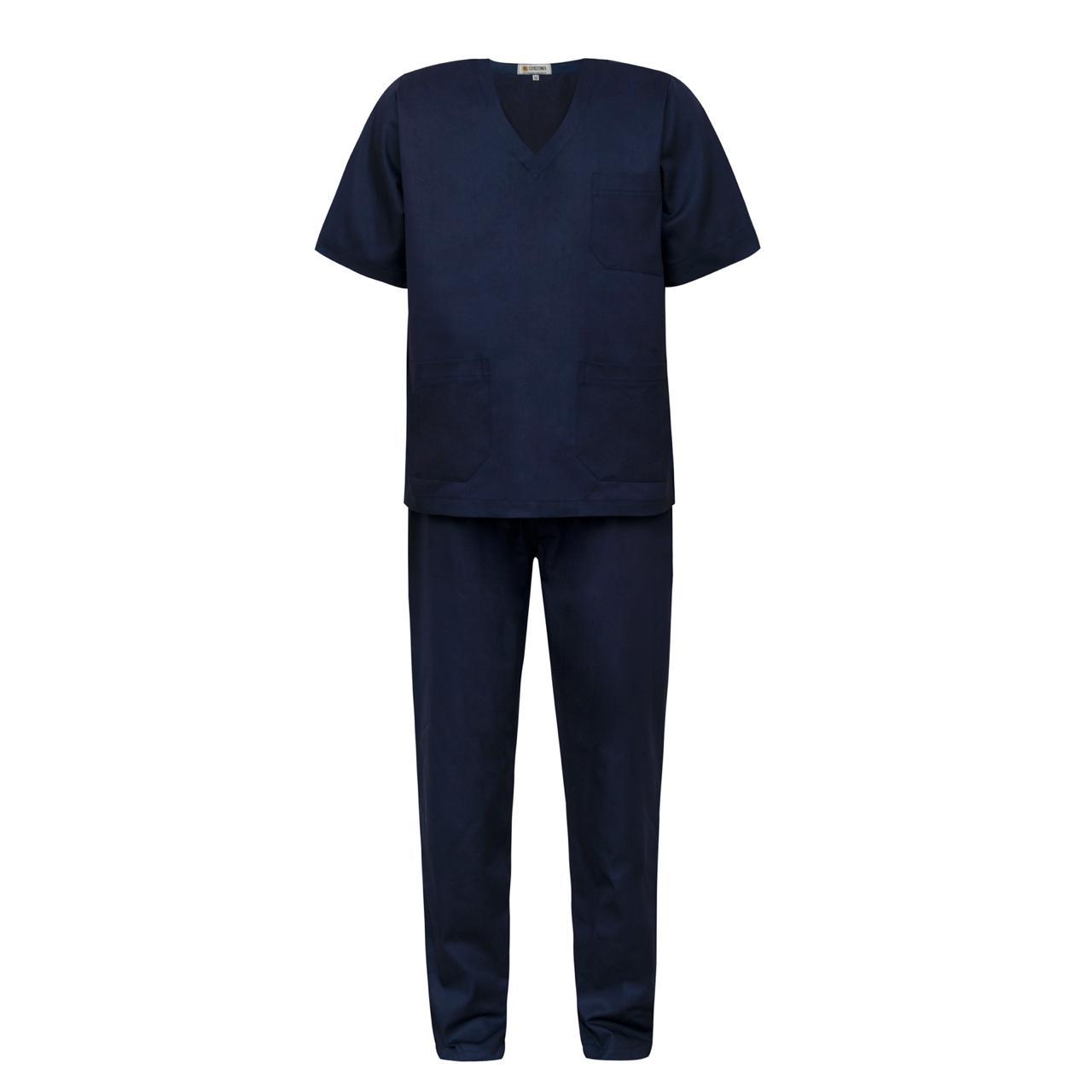 Scrub / Pijama Cirúrgico Gola V Unissex - Azul Marinho