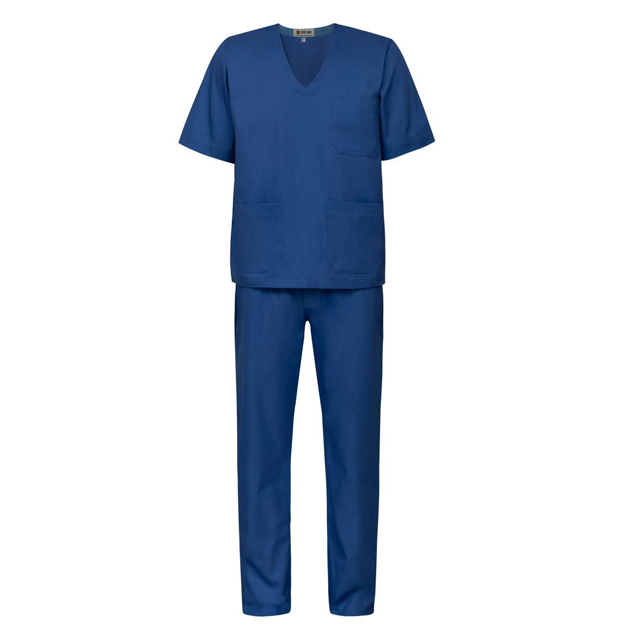 Scrub / Pijama Cirúrgico Gola V Unissex - Azul Royal