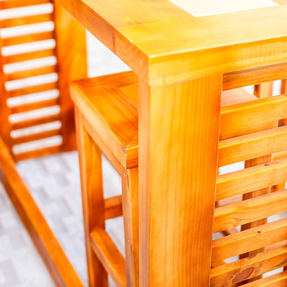 Bancada + 3 Banquetas c/ Tozetto - Norberto.