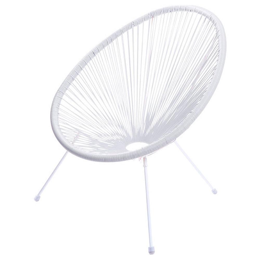 Cadeira com Corda PVC - Branca