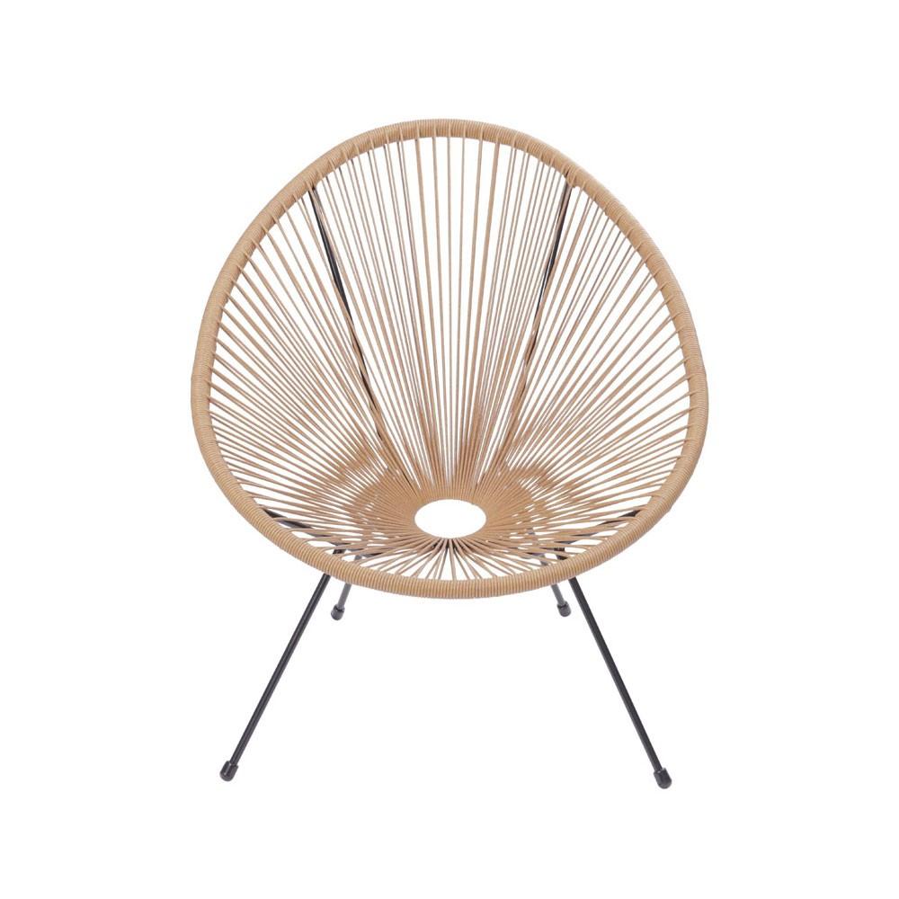Cadeira com Corda Rattan - Natural