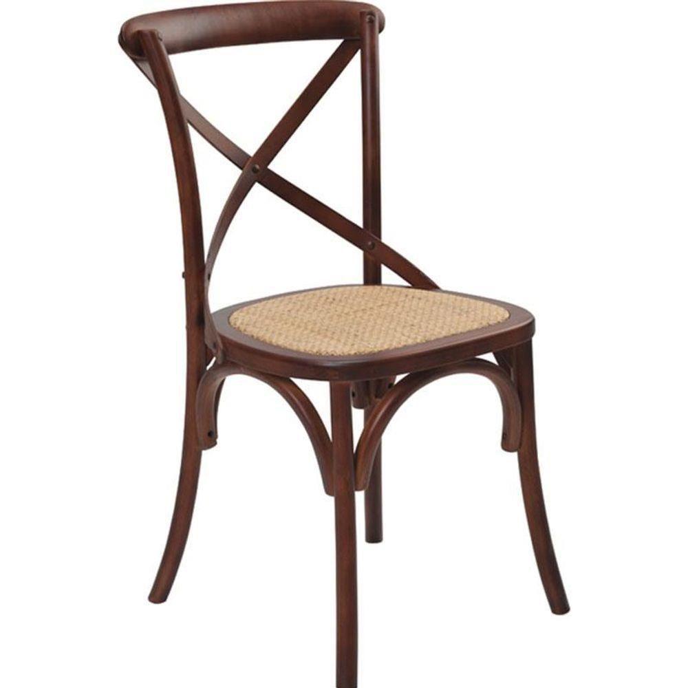 Cadeira Crusade Madeira Escura.