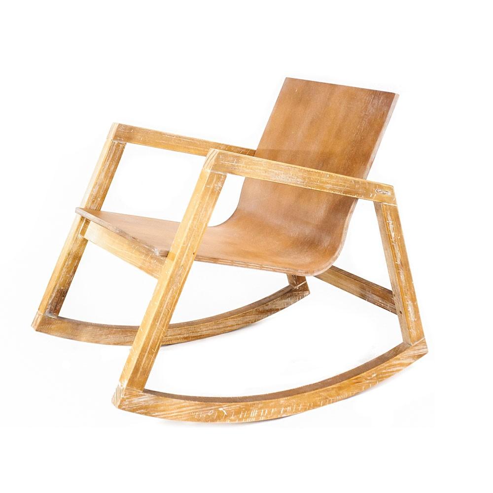 Cadeira de Balanço Rústica Village - DriftWood