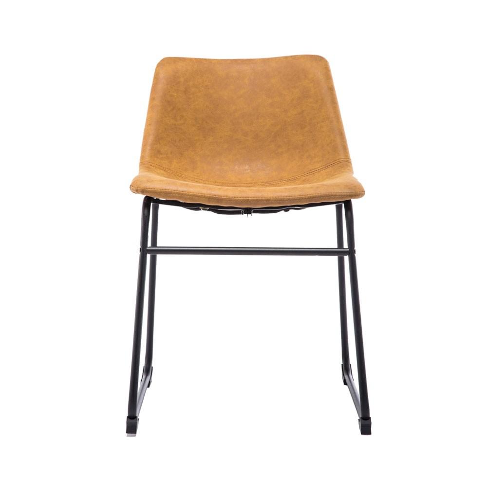 Cadeira Industrial PU- Caramelo