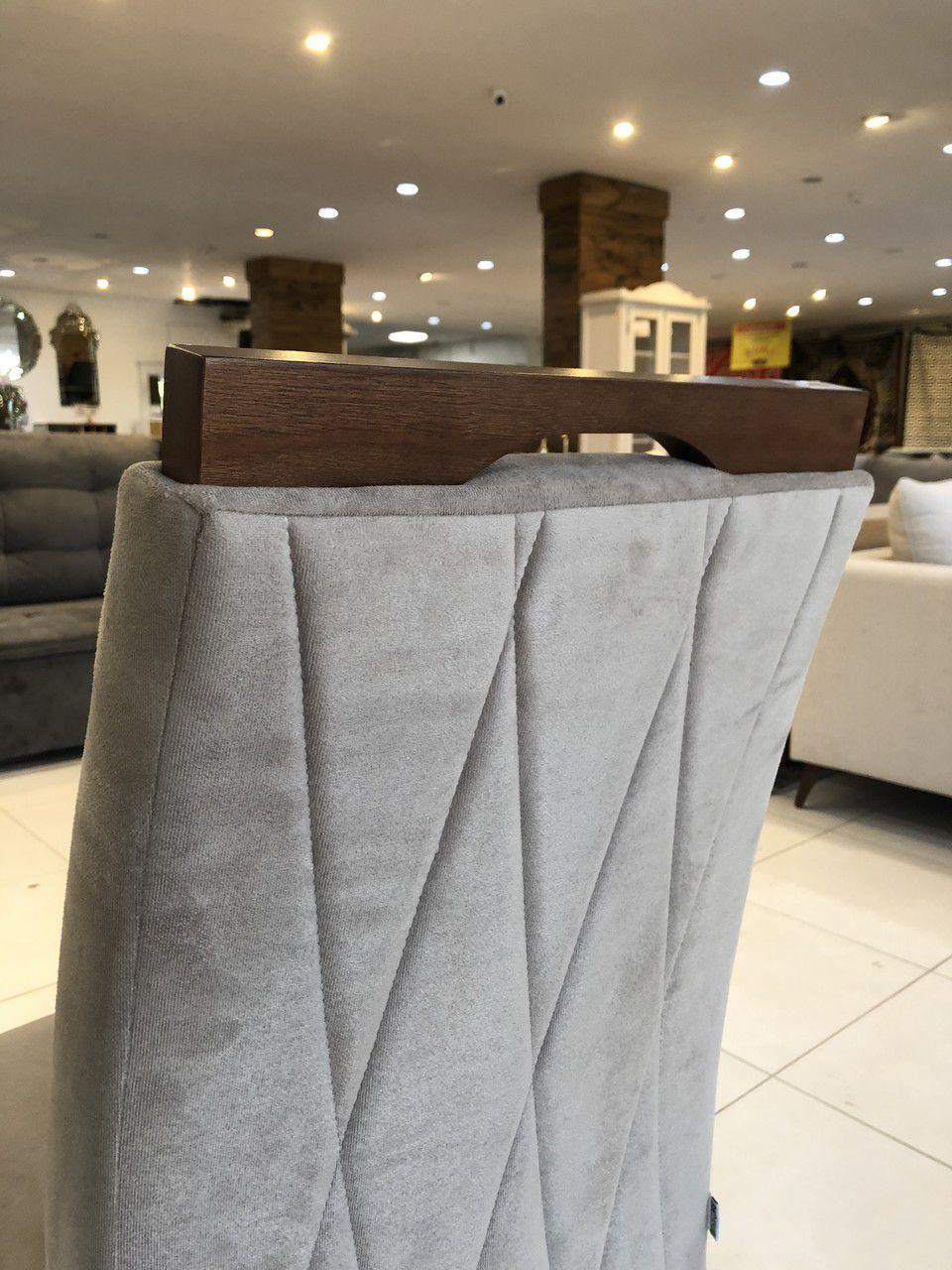 Cadeira Niruma Magnum - Suede Cinza