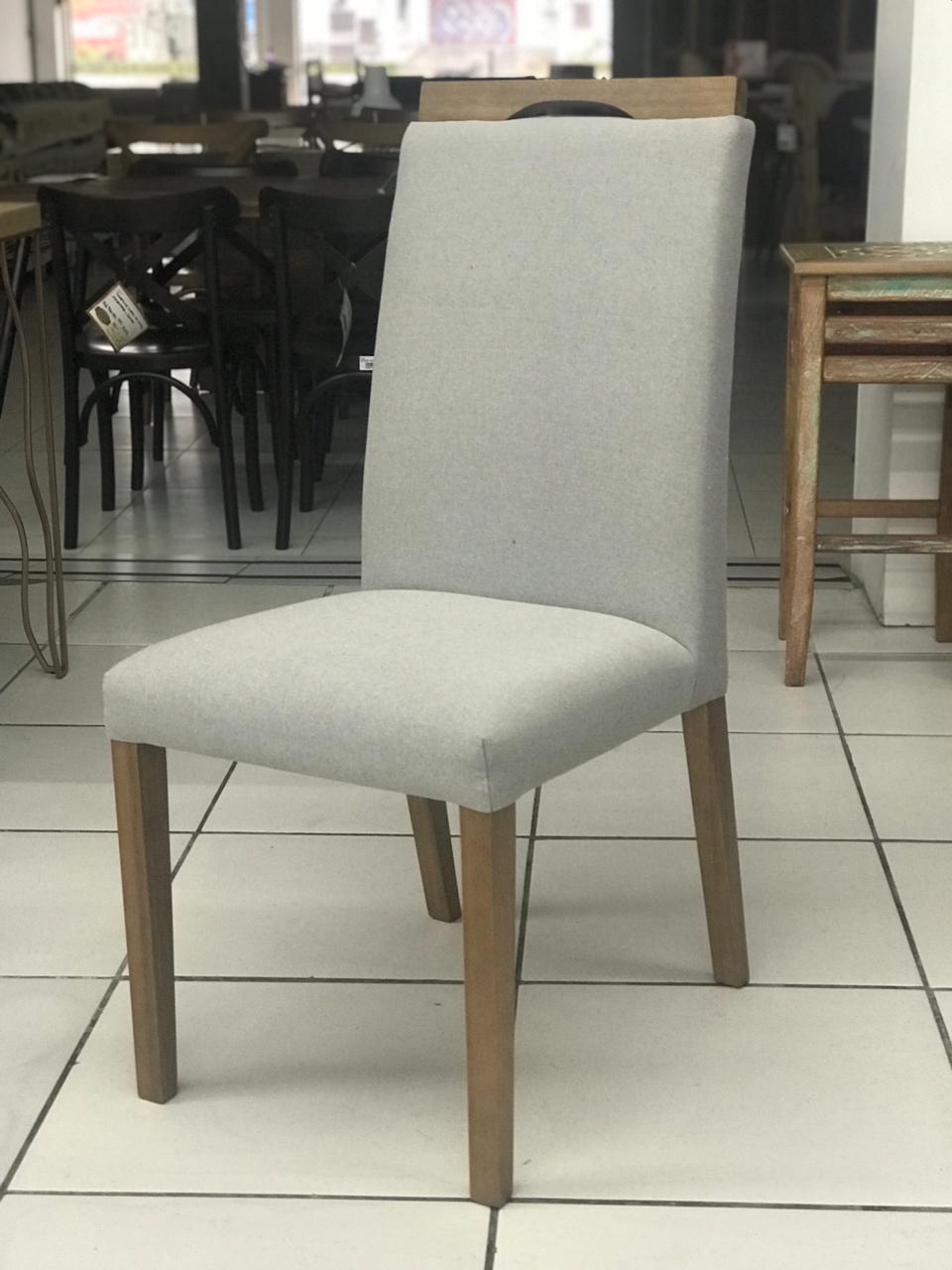 Cadeira Niruma - c/ Alça - Linho Cinza
