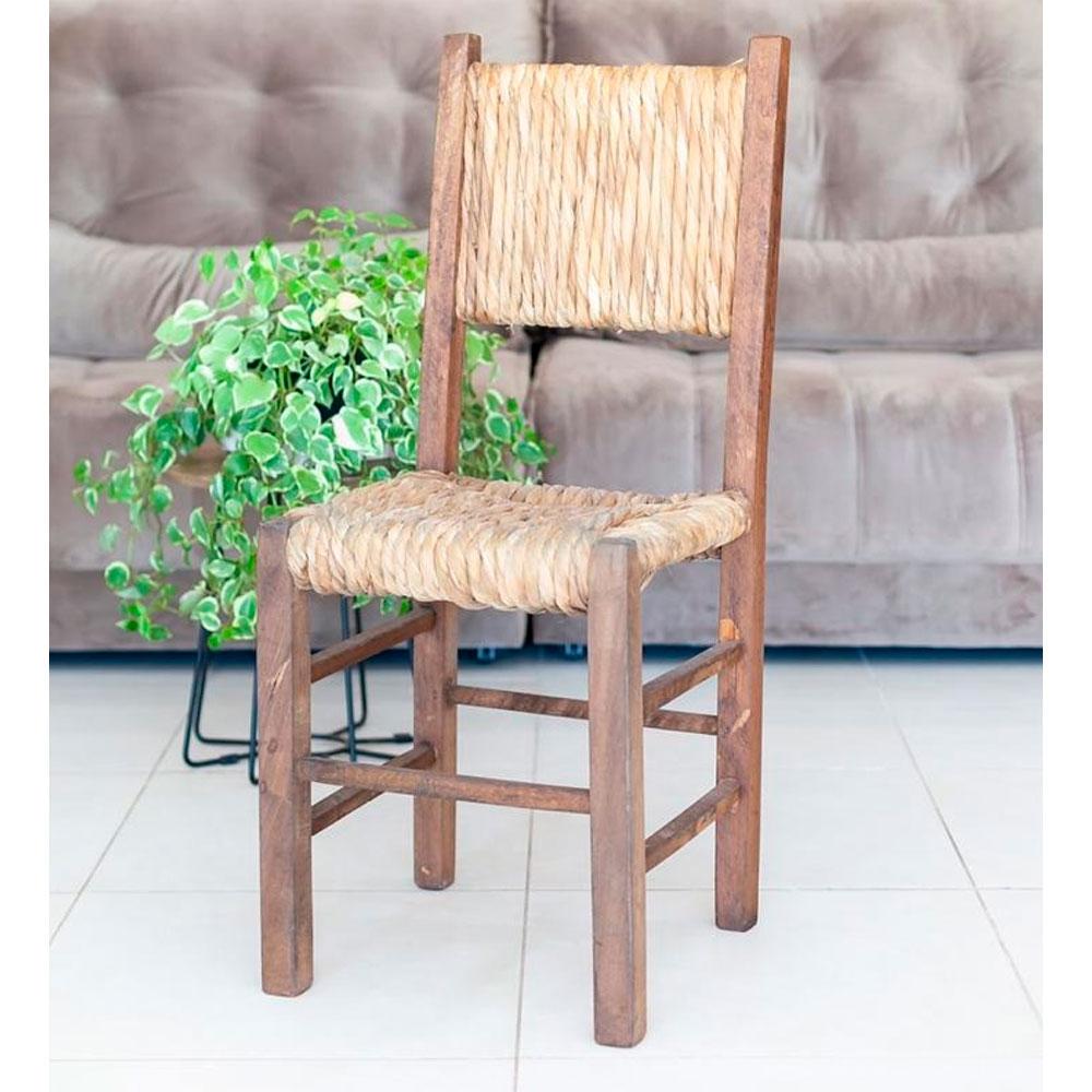 Cadeira Rústica em Palha