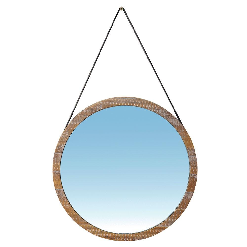 Espelho Redondo Manchester 38x38 - Driftwood