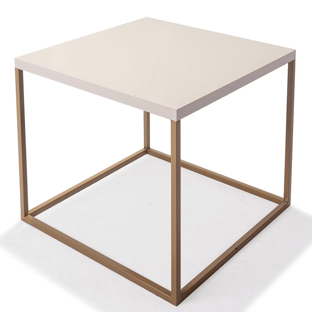 Mesa Cubo P - Fendi/ Dourado