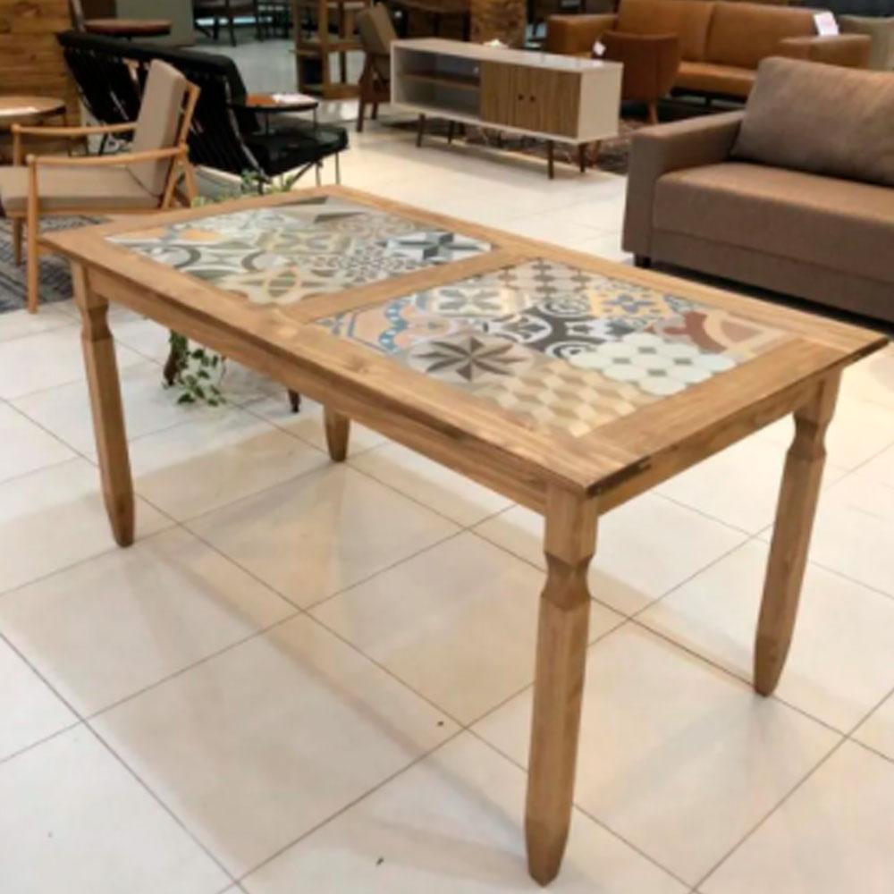 Mesa de Jantar Rustica 150x80 cm c/ Tozetto