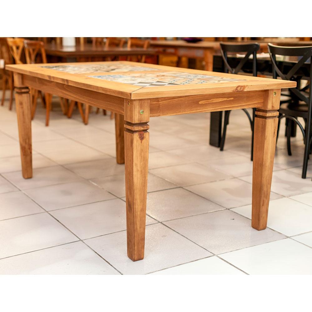 Mesa de Jantar Rústica Tozetto - 165x90