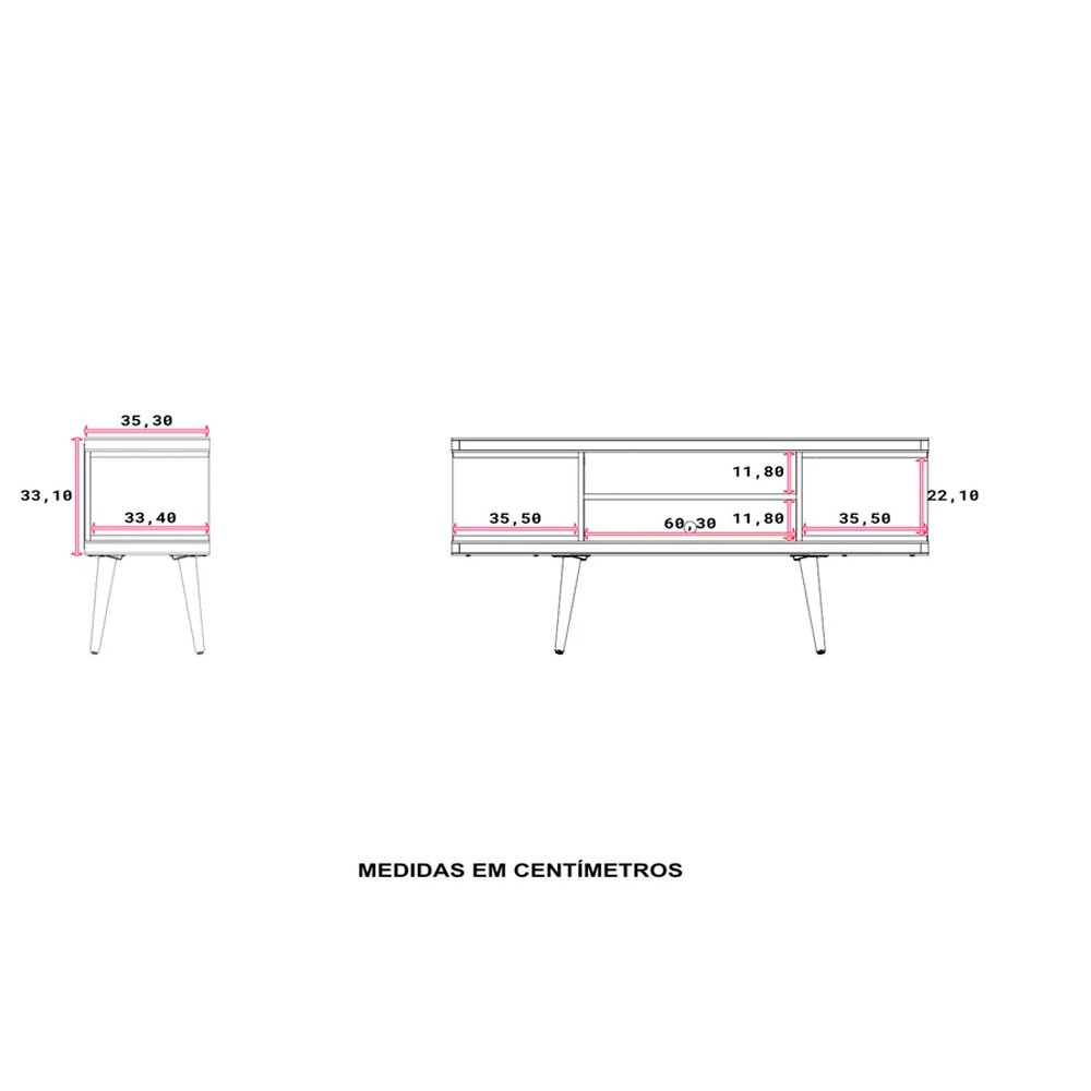 Rack Mescla 135x61 - Off White/Natural