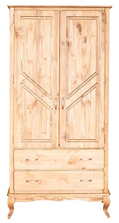 Roupeiro Rústico - 2 portas e 2 gavetas