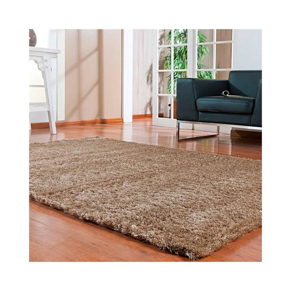 Tapete Silk Shaggy 140 x 200 - Bege