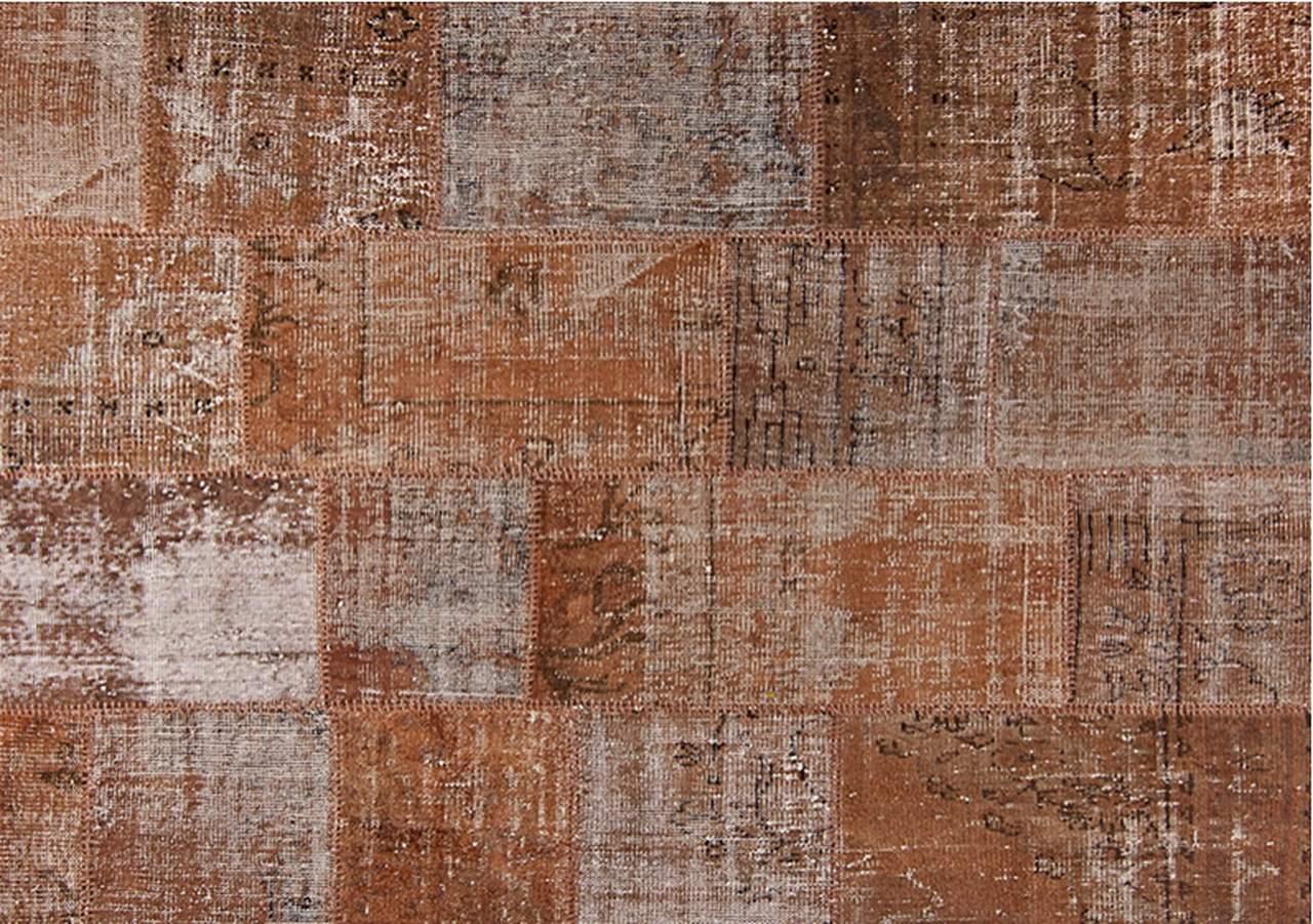 Tapete Turco Patchwork feito à mão - 152 x 206 cm