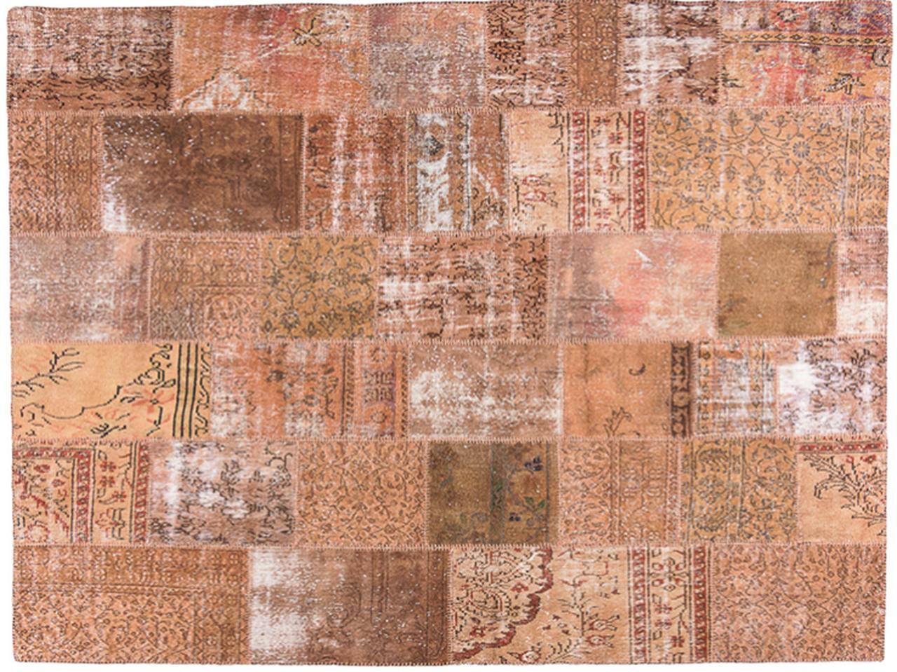 Tapete Turco Patchwork feito à mão - 252 x 304 cm