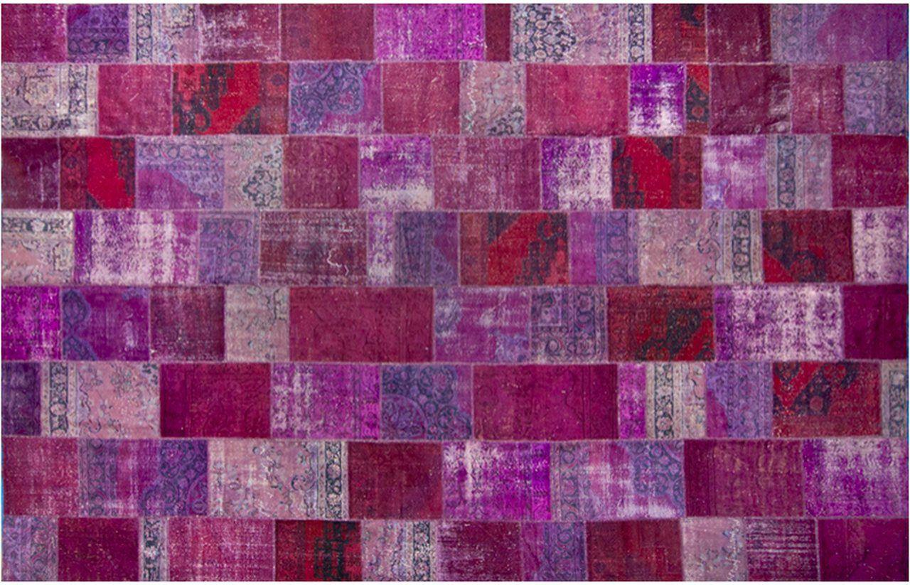 Tapete Turco Patchwork feito à mão - 405 x 600 cm