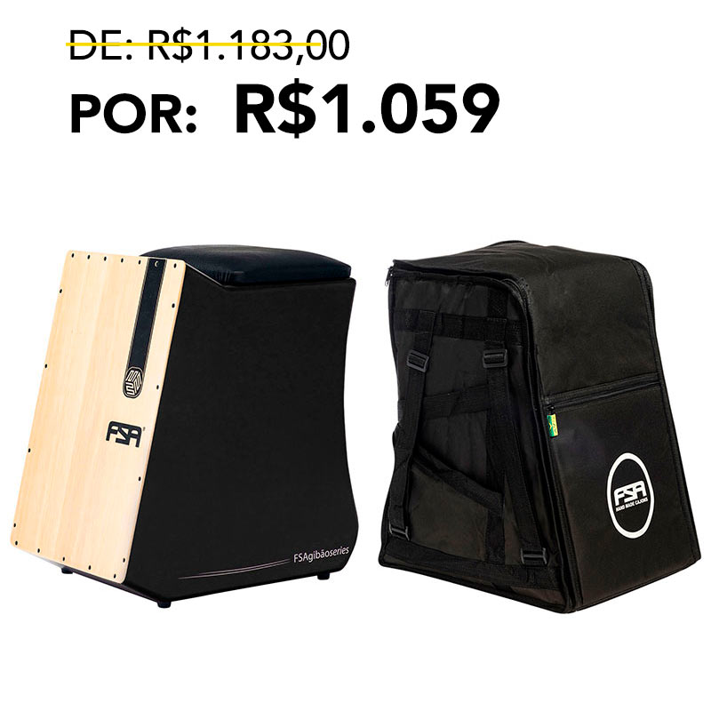 Kit Cajon Gibão + Bag