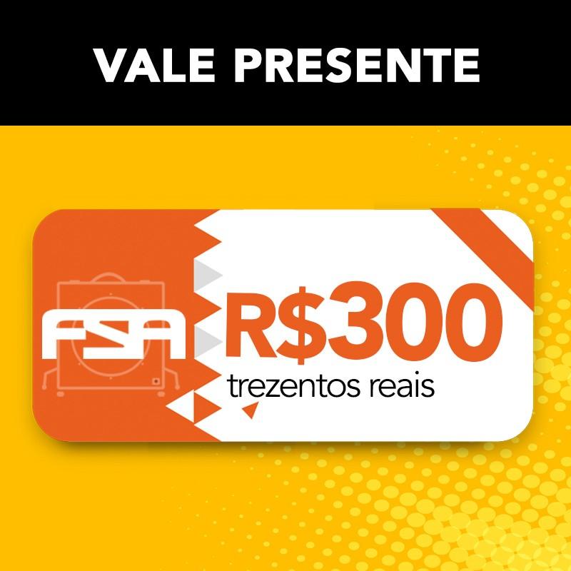 Vale Presente FSA R$ 300 - Presenteie com cupom da Loja Oficial FSA