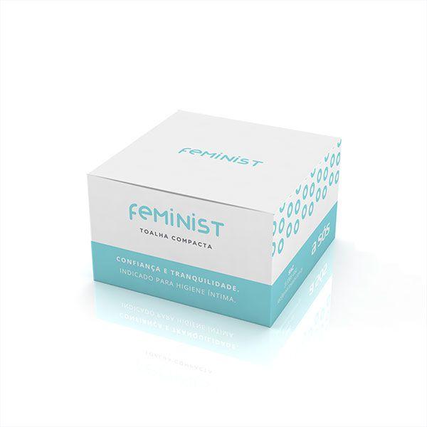 Toalha Compacta Descartável para Higiene Feminist