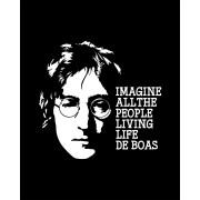 Camiseta Imagine all the people living life de boas - John Lennon