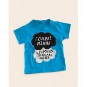 Camiseta Infantil A culpa é minha e eu ponho em quem eu quiser