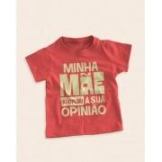 Camiseta Infantil Minha mãe não pediu a sua opinião