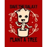Camiseta Save the galaxy, plant a tree - Groot