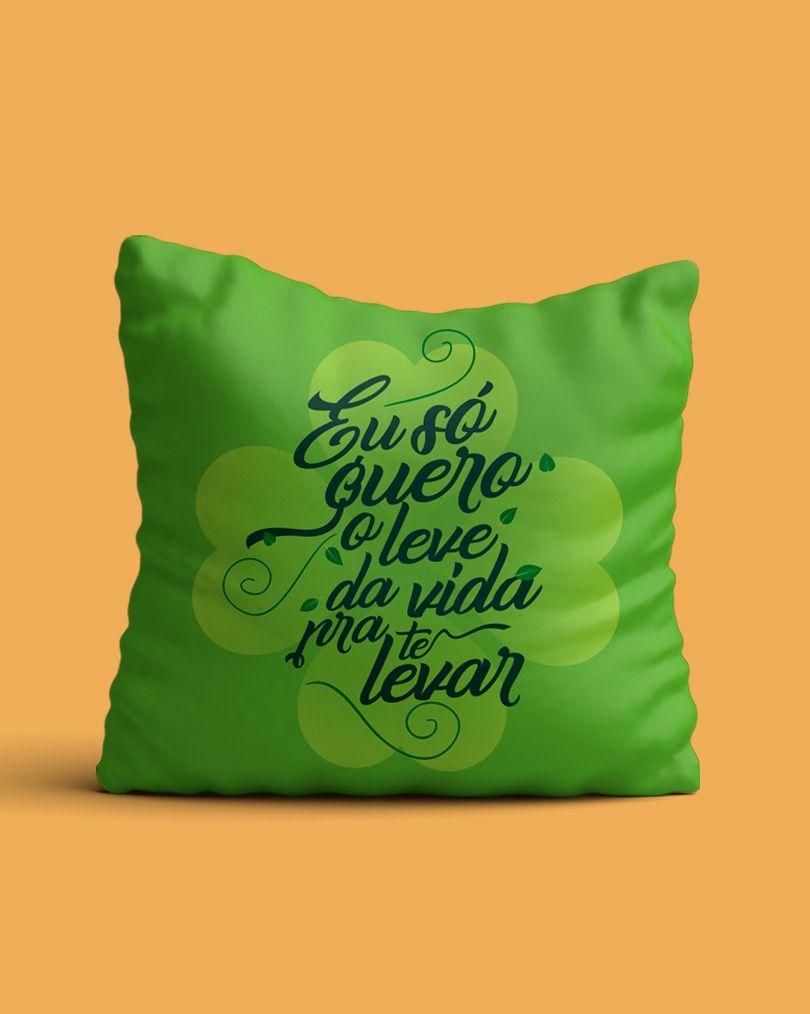 Almofada Eu só quero o leve da vida pra te levar - Anavitória ft. Tiago Iorc