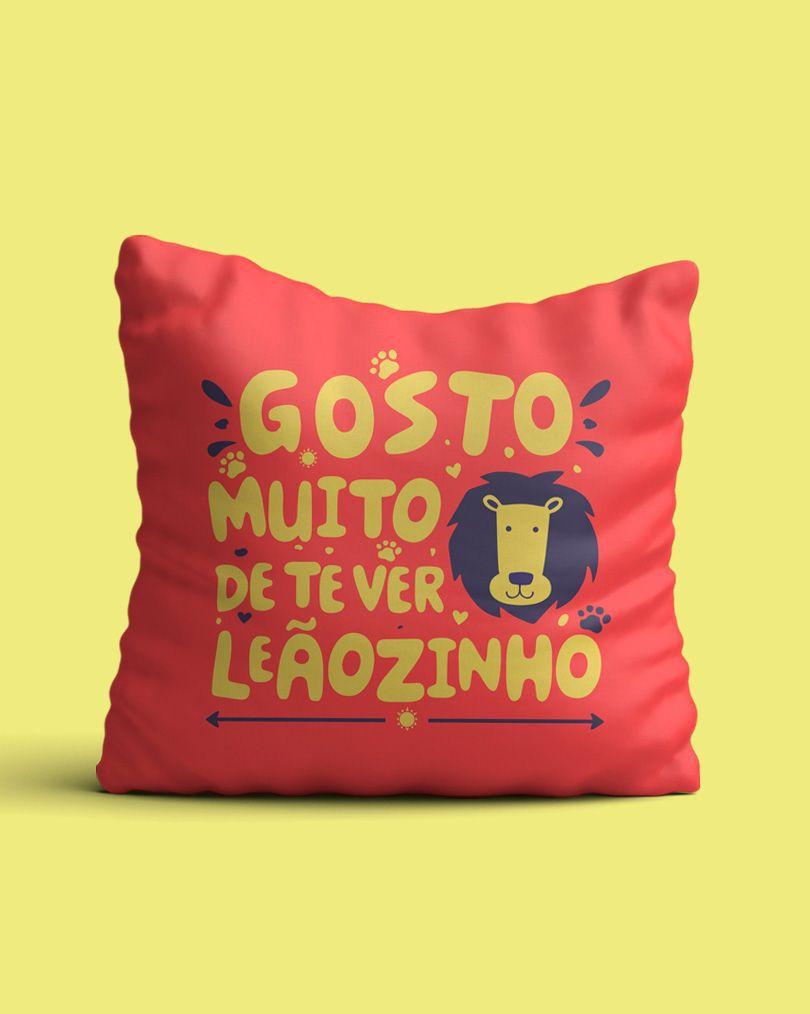 Almofada Gosto muito de te ver, leãozinho - Caetano Veloso