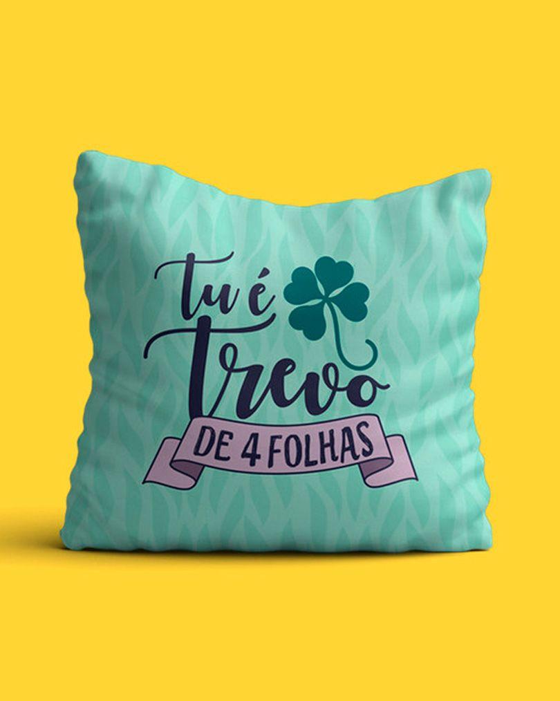 Almofada Tu é trevo de quatro folhas - Anavitória ft. Tiago Iorc